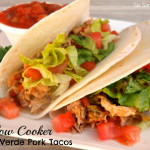 slow cooker chile verde pork tacos