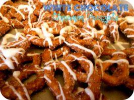 White Chocolate Cinnamon Sugar Pretzels Recipe