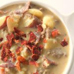Bacon Cheeseburger Chowder on SixSistersStuff.com