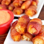 Cheesy Bacon Tots with Secret Dipping Sauce