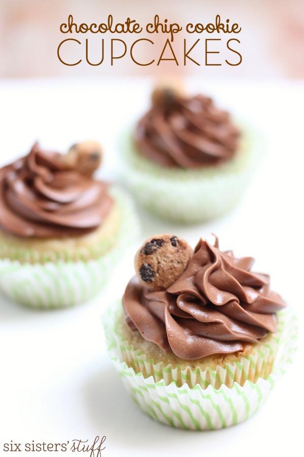 Chocolate Chip Cookie Cupcakes Recipe