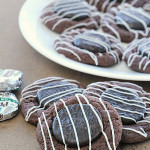 Chocolate Mint Thumbprint Cookies on SixSistersStuff.com