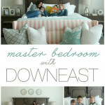 Get the details on our Master Bedroom with DownEast Home on SixSistersStuff.com