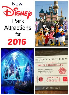 New Disney Park Attractions for 2016