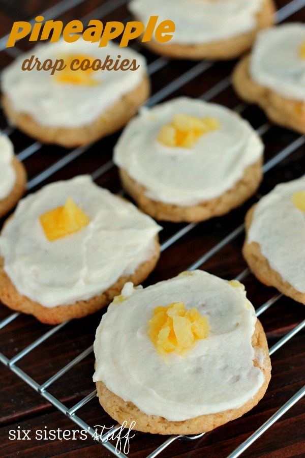 Pineapple Drop Cookies with Pineapple Buttercream Frosting