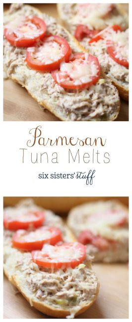 Parmesan Tuna Melts