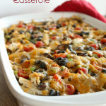 Mexican Casserole with Turkey and Cheese Tortellini