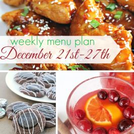 Weekly Menu Plan December 21st-27th