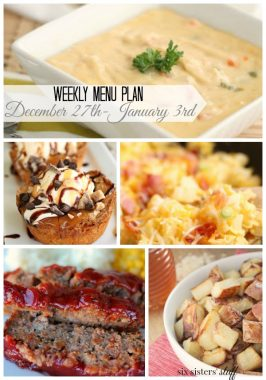 Weekly Menu Plan December 28th – January 3rd