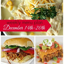 Weekly Menu Plan December 14th-20th