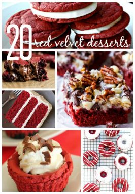 20 Red Velvet Desserts {for your Valentine}