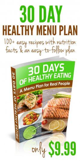 30 Days of Healthy Eating: Menu Plan eBook