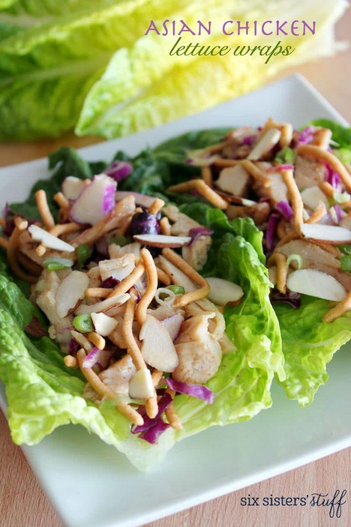Asian Chicken Lettuce Wraps Six Sisters Stuff