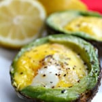 Avocado Baked Eggs 1