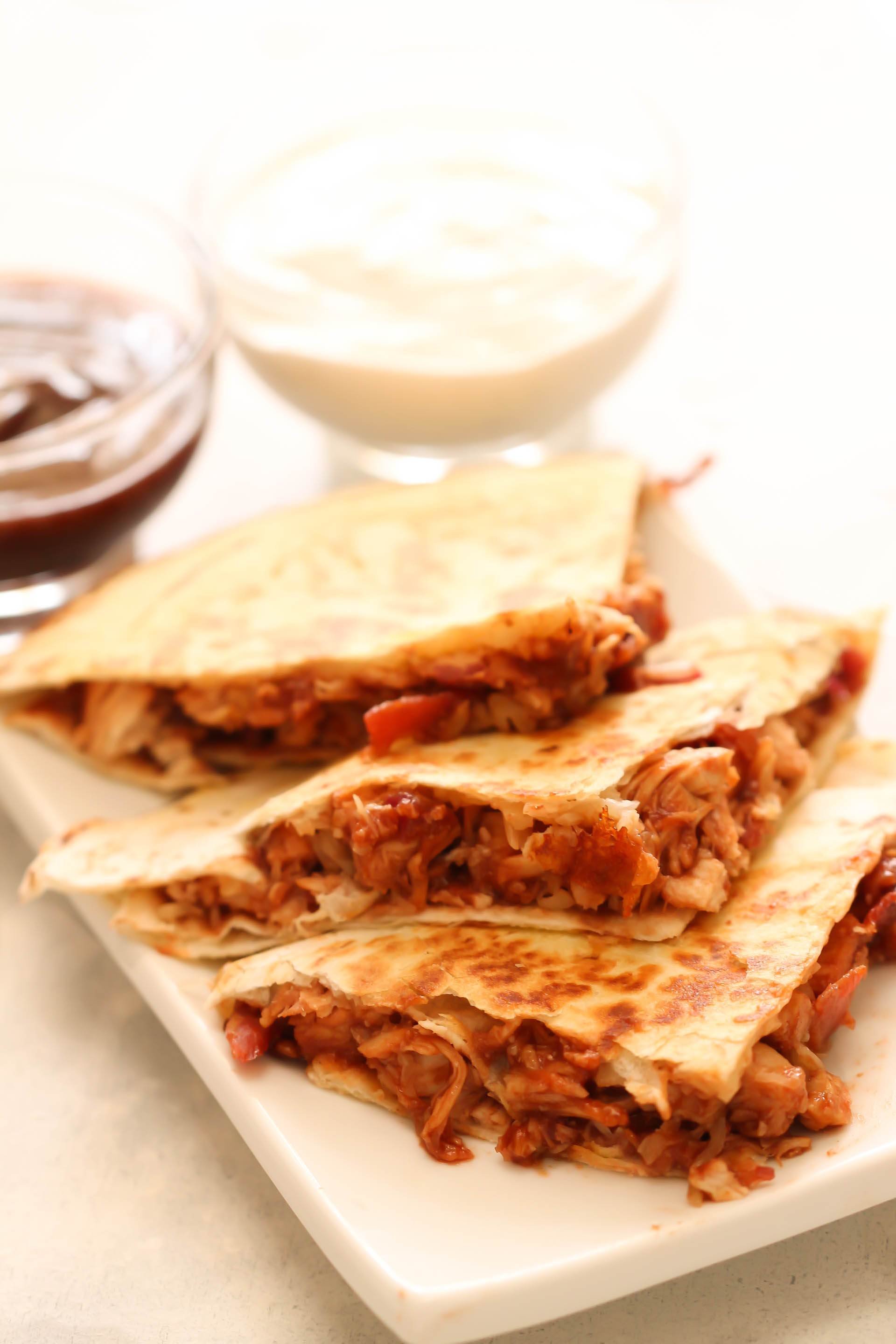 Barbecue Bacon Chicken Quesadillas Recipe