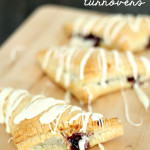Berries n' Cream Puff Pastry Turnovers from SixSistersStuff.com