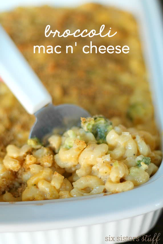 Baked Broccoli Mac and Cheese Recipe