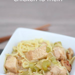 Easy Chicken Lo Mein from SixSistersStuff.com