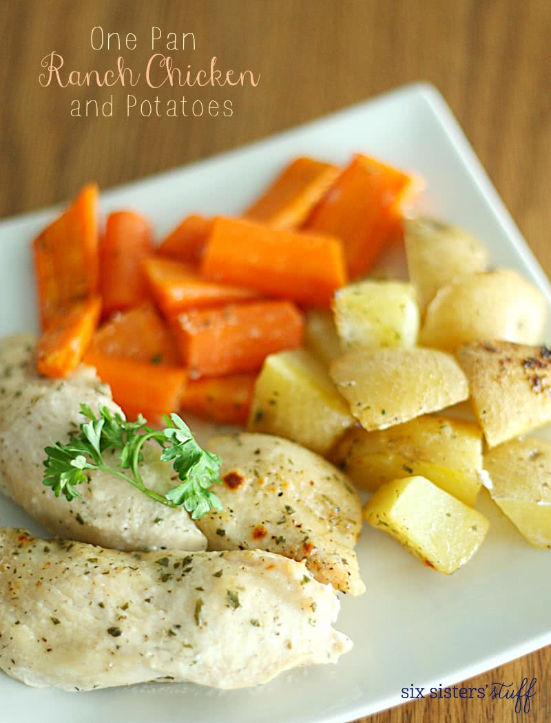 One Pan Ranch Chicken and Potatoes Recipe