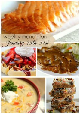 Weekly Menu Plan January 25th-31st