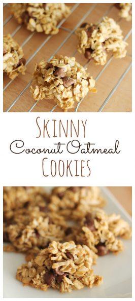 Skinny Coconut Oatmeal Cookies