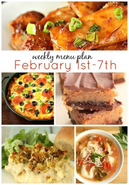 Weekly Menu Plan February 1st-7th