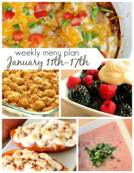 Weekly Menu Plan January 11th-17th