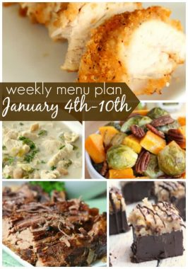 Weekly Menu Plan January 4th-10th
