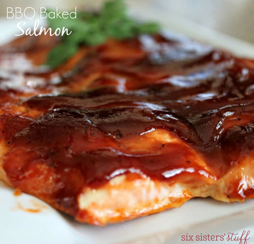 3 Ingredient Bbq Baked Salmon Recipe Six Sisters Stuff