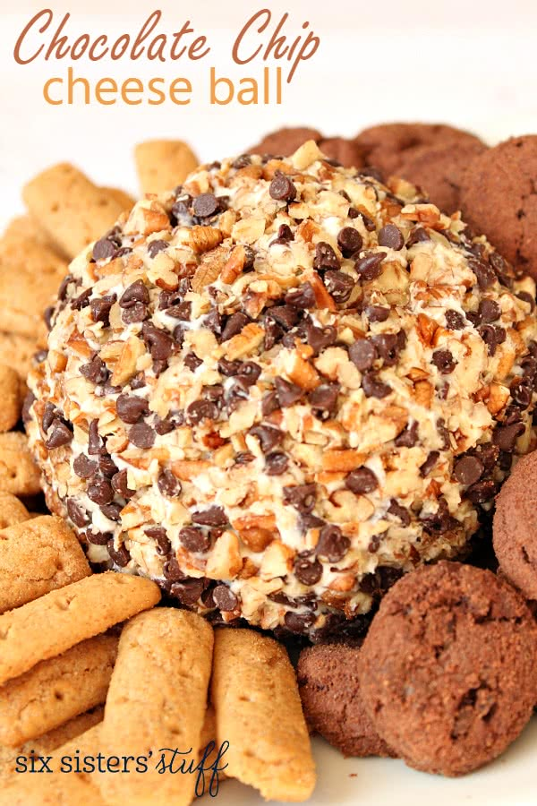 Chocolate Chip Cheese Ball | Six Sisters' Stuff