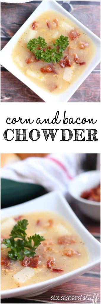 Corn and Bacon Chowder from Six Sisters' Stuff