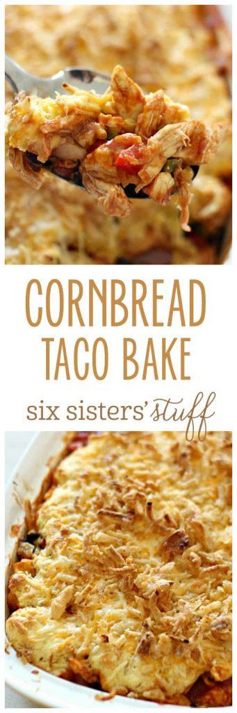 Cornbread Taco Bake from SixSistersStuff