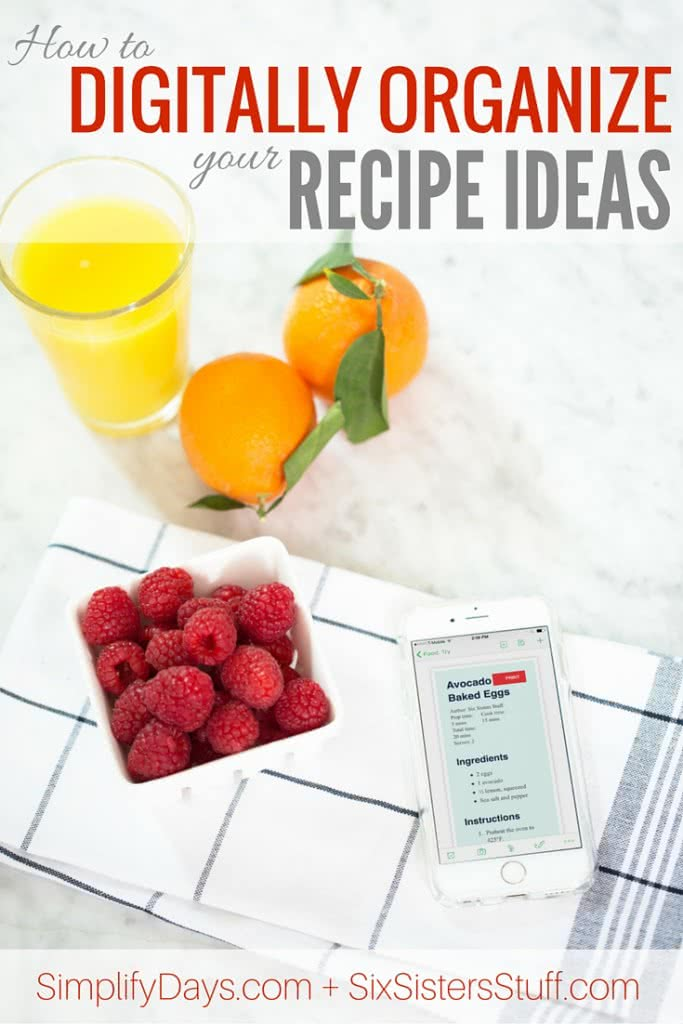 How To Digitally Organize Your Recipe Ideas