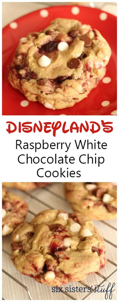 Disneyland's Raspberry White Chocolate Chip Cookies 3