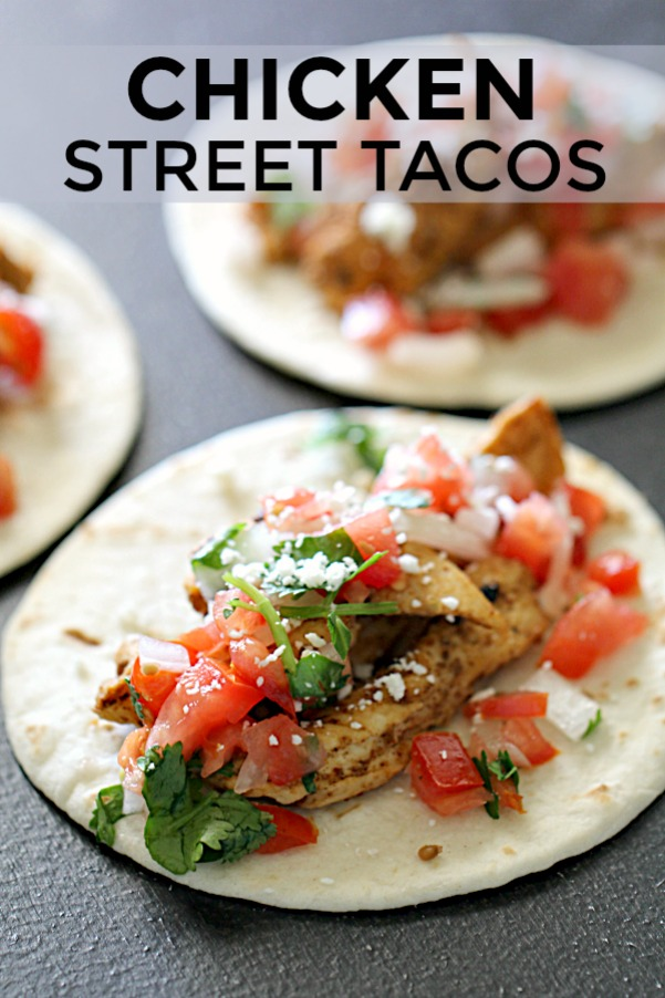 Six Sisters Chicken Street Tacos with title words
