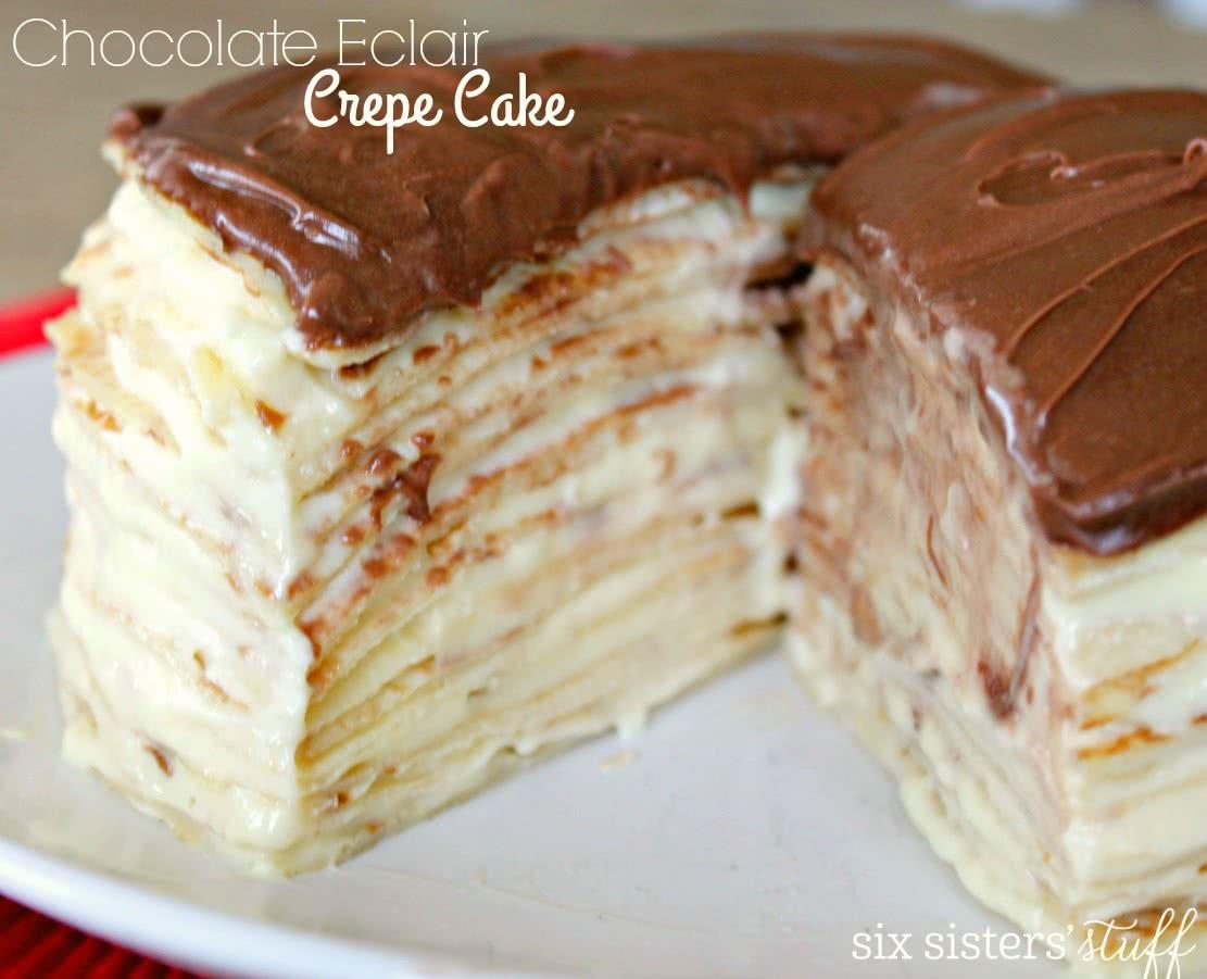 Chocolate Eclair Crepe Cake