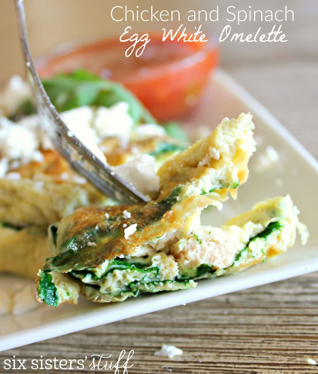 Spinach and Chicken Egg White Omelette