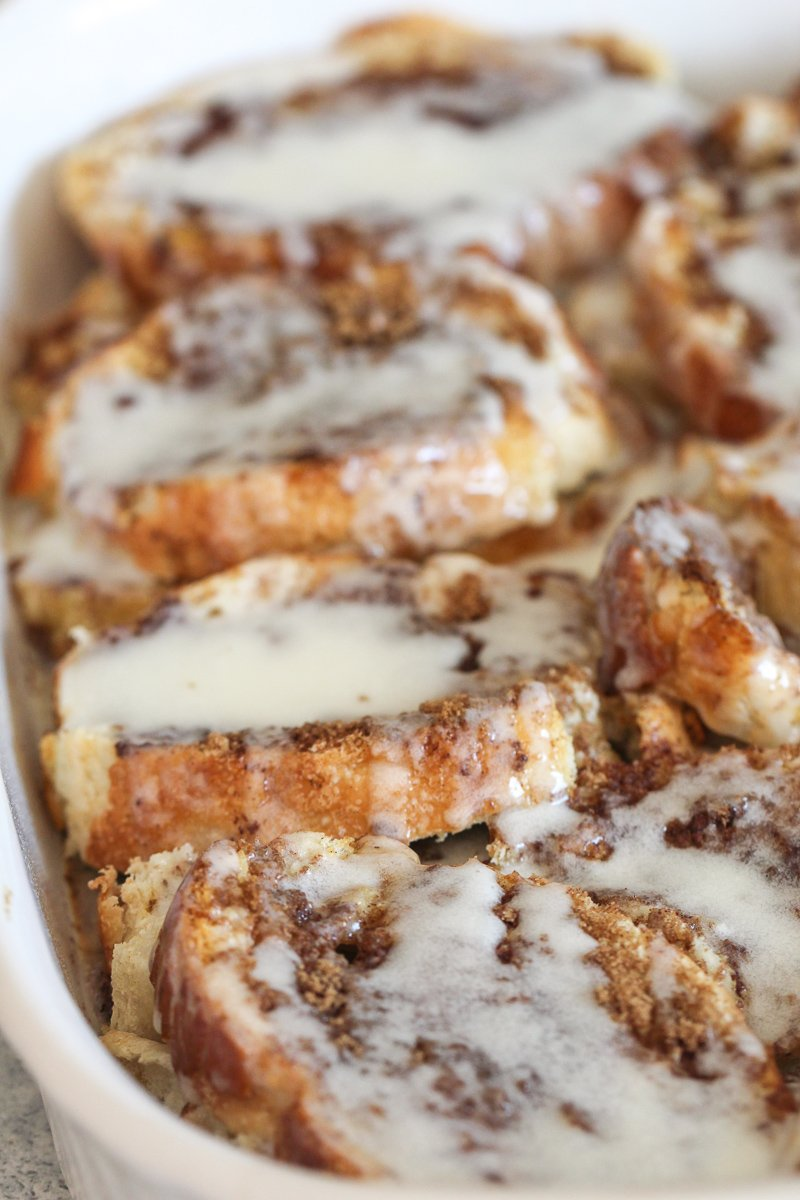 Cinnamon Roll French Bread Bake