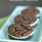 Grasshopper Sandwich Cookies from SixSistersStuff.com