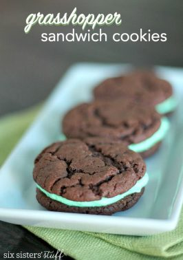 Cake Mix Grasshopper Sandwich Cookies Recipe