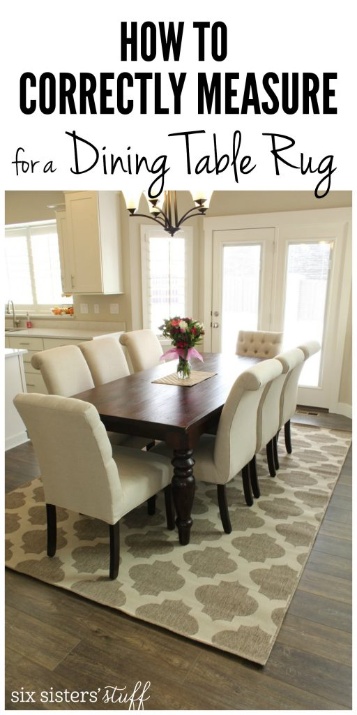 10 of the Best Kid Friendly Dining Table Rugs Six  : How To Correctly Measure for a Dining Room Table Rug 512x1024 from www.sixsistersstuff.com size 512 x 1024 jpeg 82kB