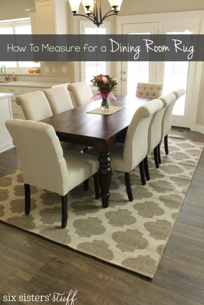 How to measure for a dining room rug on SixSistersStuff