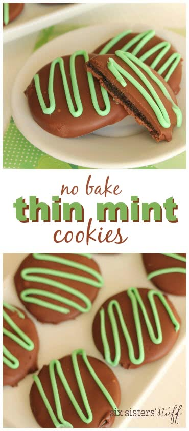 No Bake Thin Mint Cookies 2