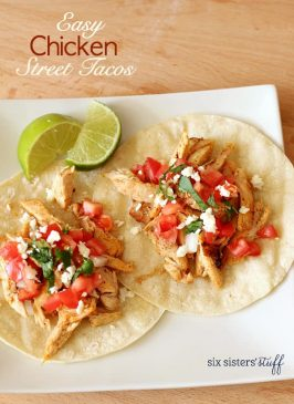 Easy Chicken Street Tacos
