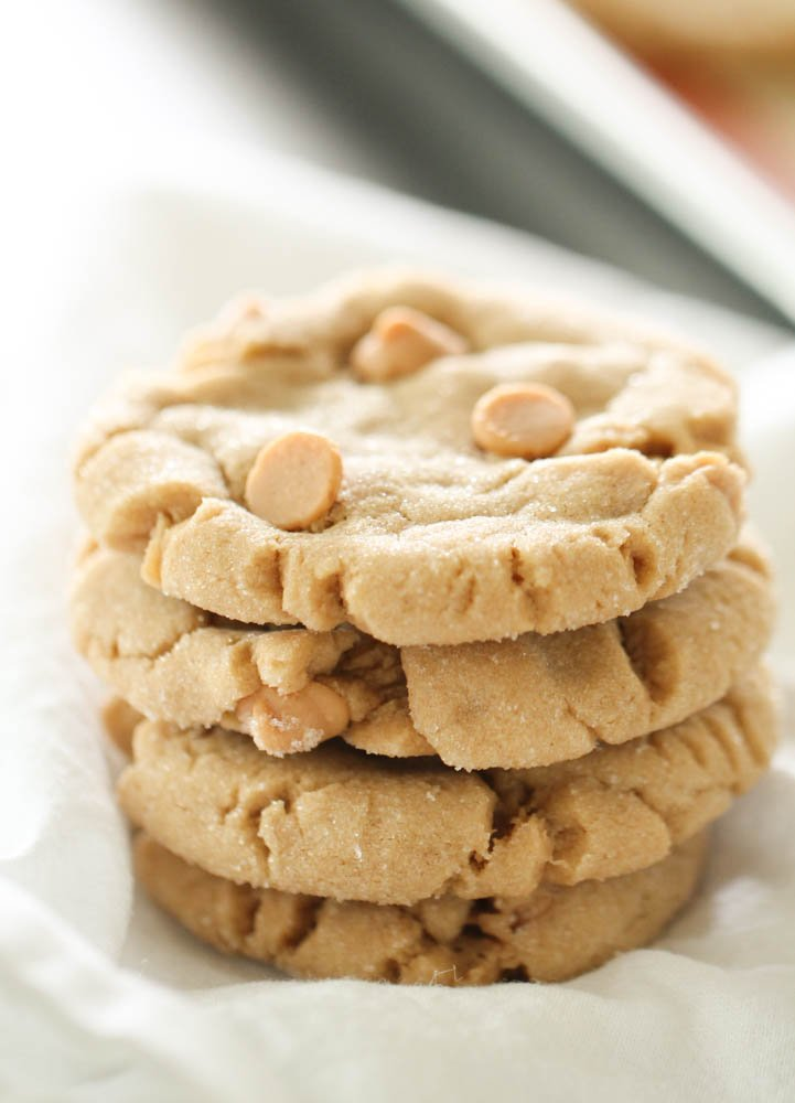 Serve delicious peanut butter cookies with Six Sisters' Stuff's recipe
