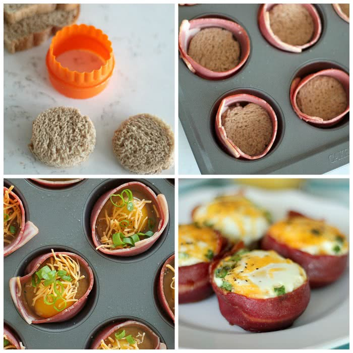 Turkey Bacon Egg Muffin Cups