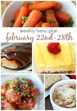Weekly Menu Plan February 22nd-28th