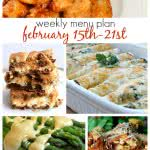 Weekly Menu Plan Feb 15-21st