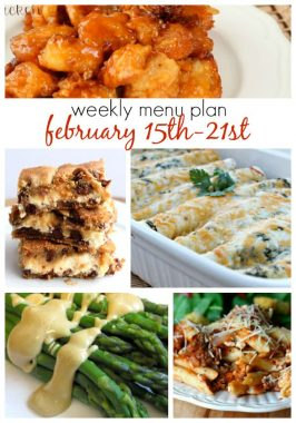Weekly Menu Plan February 15th-21st