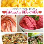 Weekly Menu Plan February 8-14 from Six Sisters' Stuff